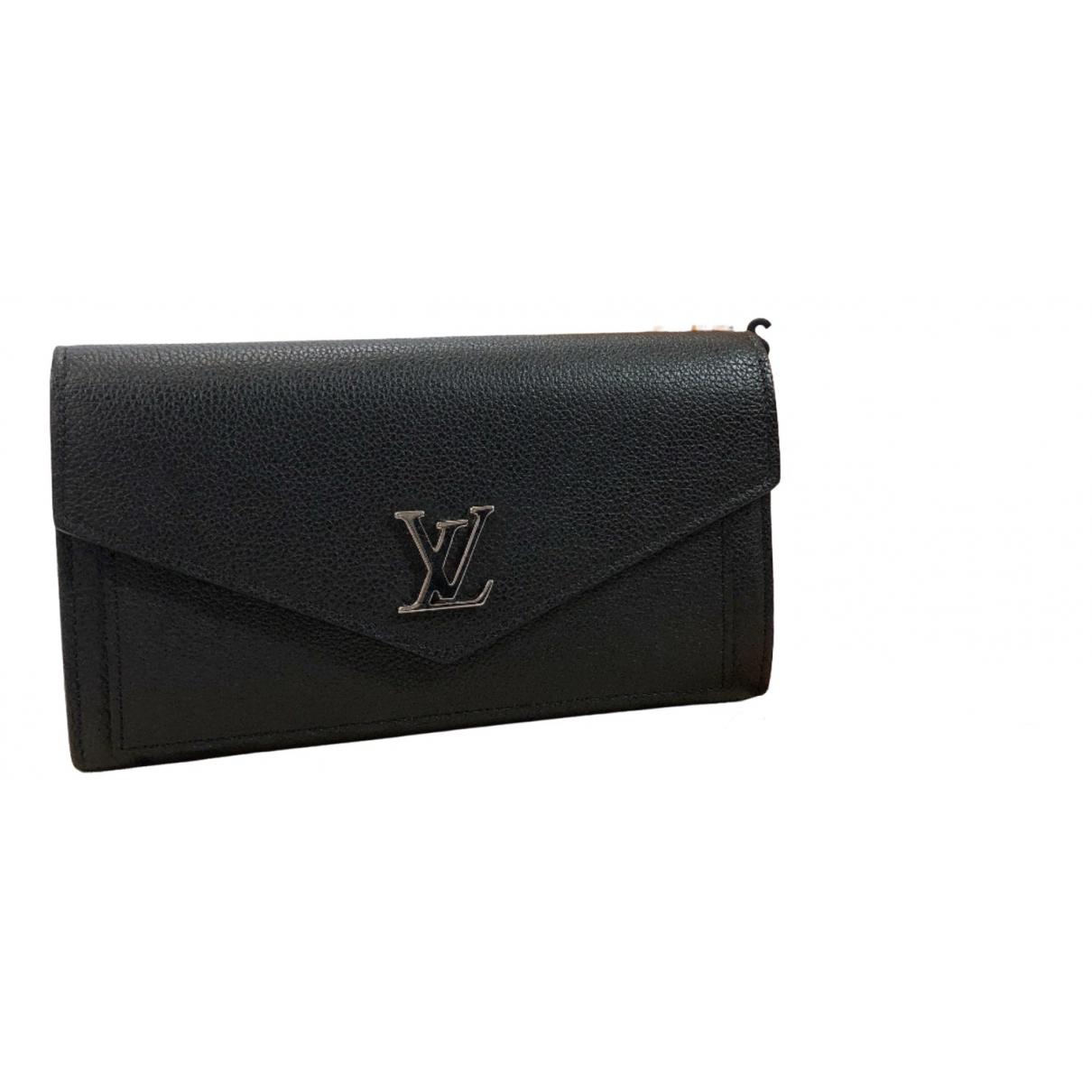 Louis Vuitton Lockme Portemonnaie in  Schwarz Leder