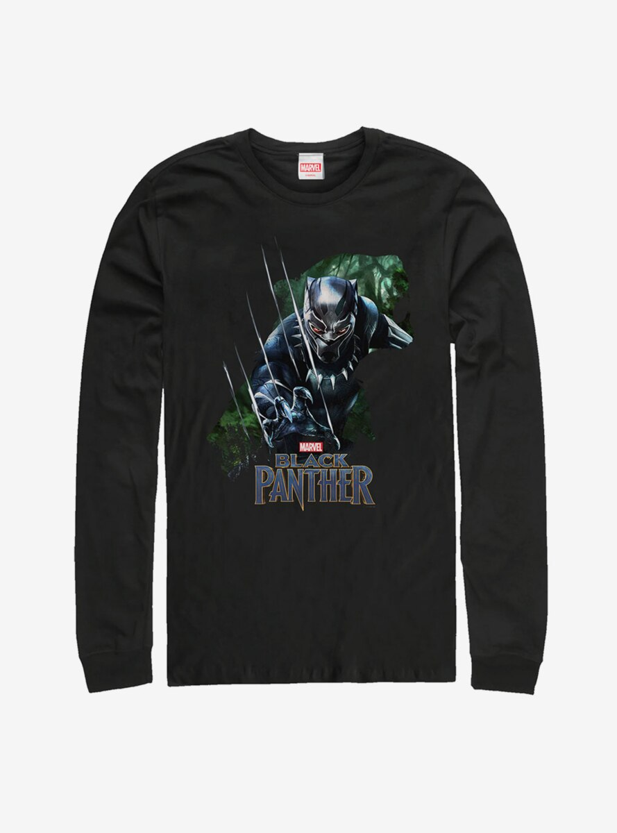 Marvel Black Panther Jungle Silhouette Long Sleeve T-Shirt