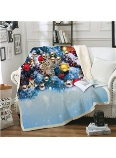 3D Christmas Thick Blanket Flannel Blankets Microfiber Blankets