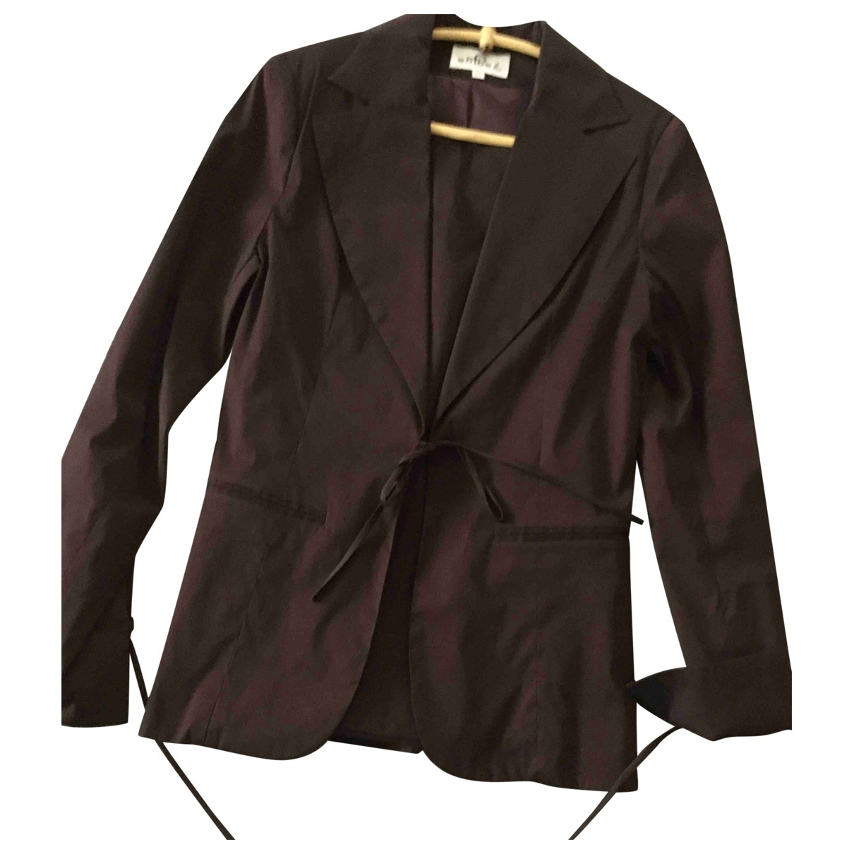 Non Signé / Unsigned \N Brown jacket for Women 44 IT