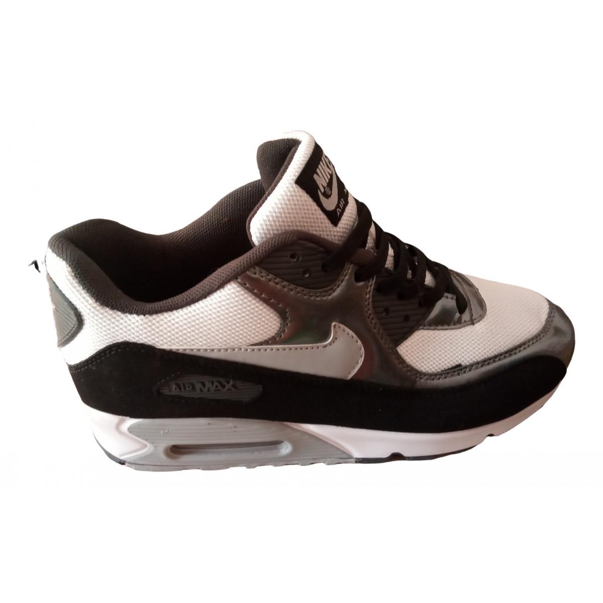 Nike - Baskets Air Max 90 pour homme en cuir verni - argente