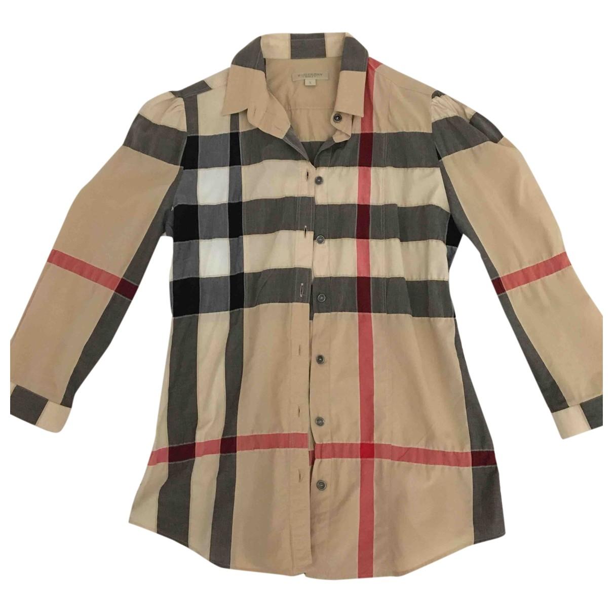 Burberry - Pull   pour femme en coton - multicolore