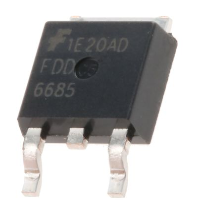 ON Semiconductor P-Channel MOSFET, 11 A, 30 V, 3-Pin DPAK  FDD6685 (10)