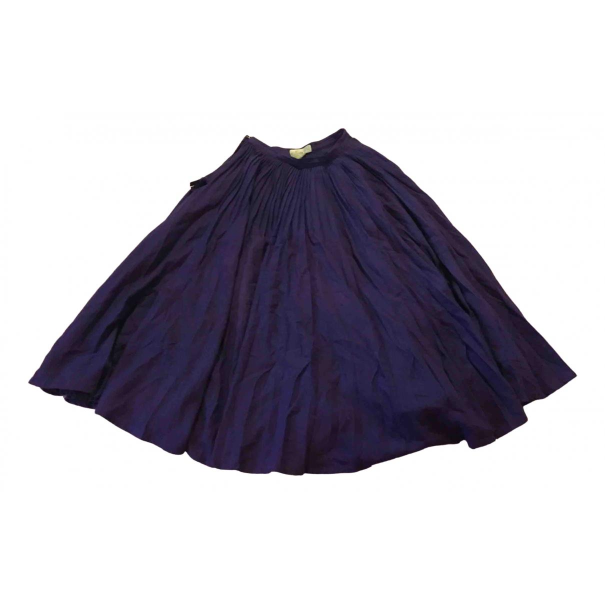 Gianni Versace - Jupe   pour femme en coton - violet