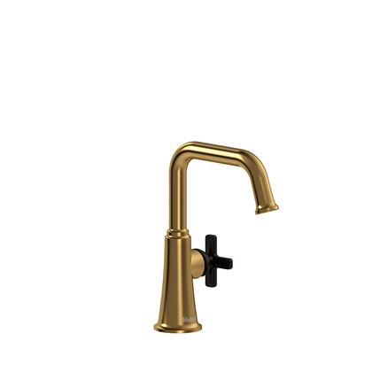 Momenti MMSQS00XBGBK Single Hole Lavatory Faucet with x Cross Handle without Drain 1.5 GPM  in Brushed