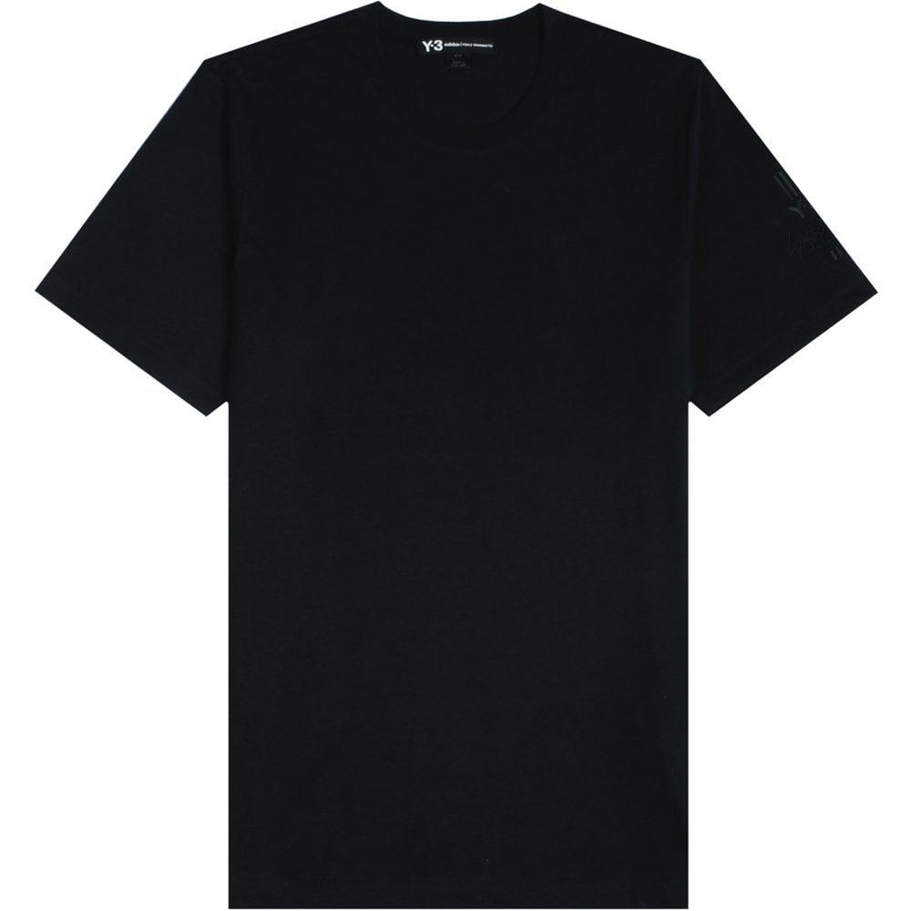 Y-3 Arm Logo T-Shirt Black Colour: BLACK, Size: SMALL