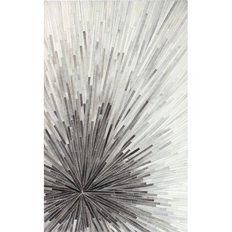 Mason Contemporary Hand Stitched Area Rug (Grey 8' x 10')