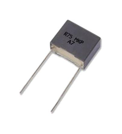 KEMET 100nF Polypropylene Capacitor PP 1 kV dc, 250 V ac ±5% Tolerance Through Hole R75 Series (10)