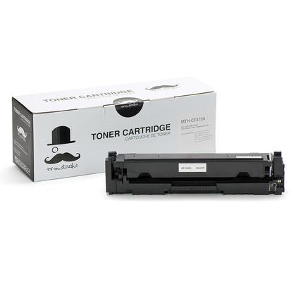 Compatible HP 410A CF410A cartouche de toner noire - Moustache - 1/paquet