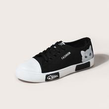 Cartoon Graphic Canvas Shoes