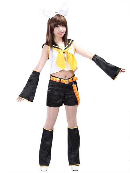 Milanoo Vocaloid Kagamine Rin Cosplay Costumes Halloween
