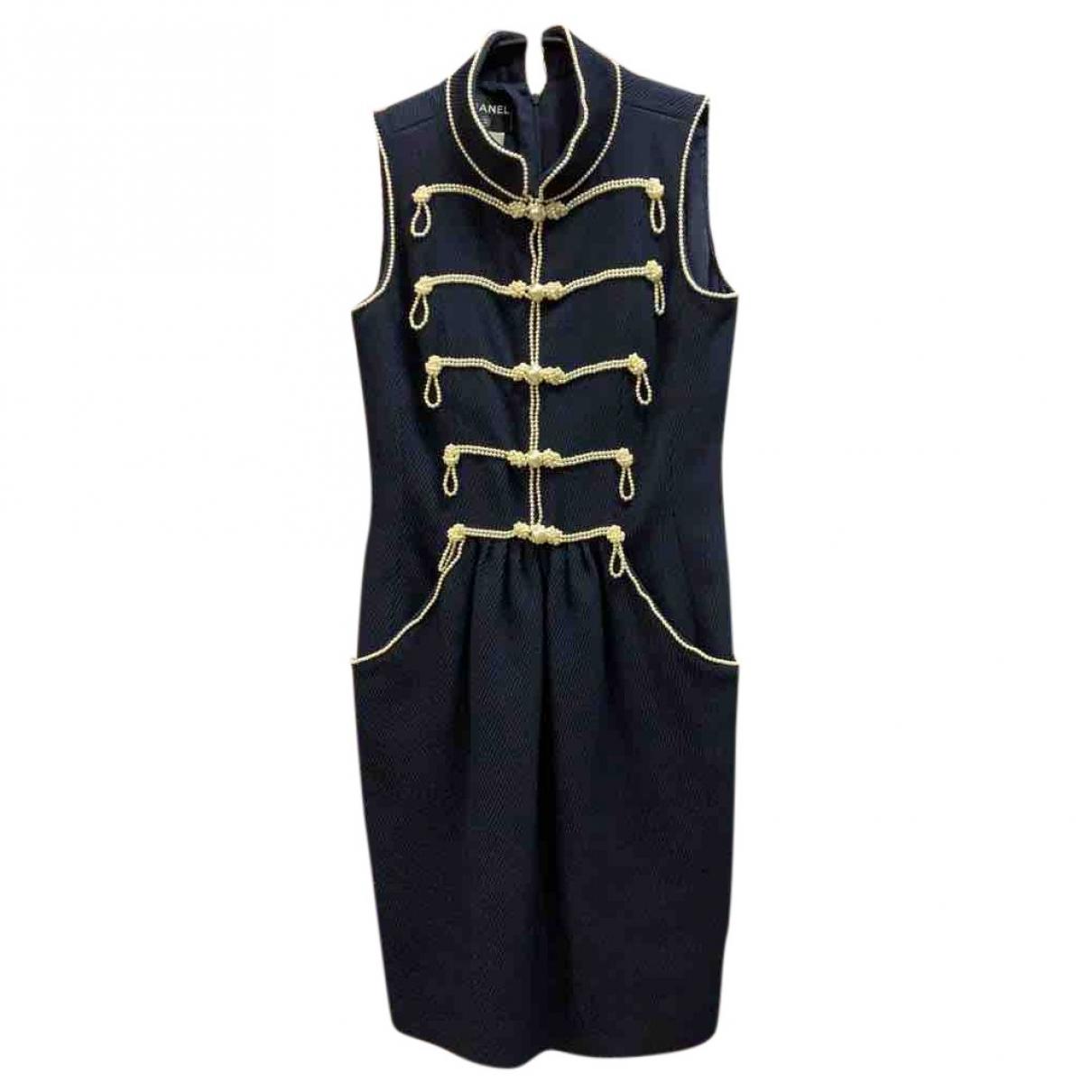 Chanel - Robe   pour femme en coton - bleu