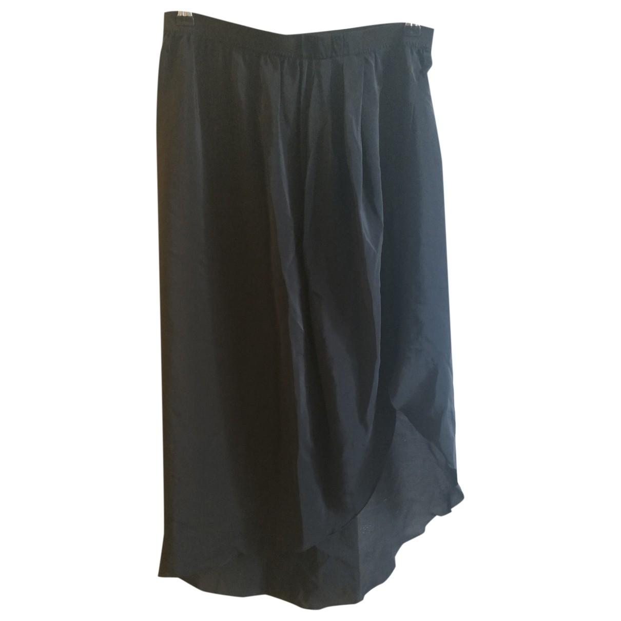 Zara - Jupe   pour femme en soie - noir
