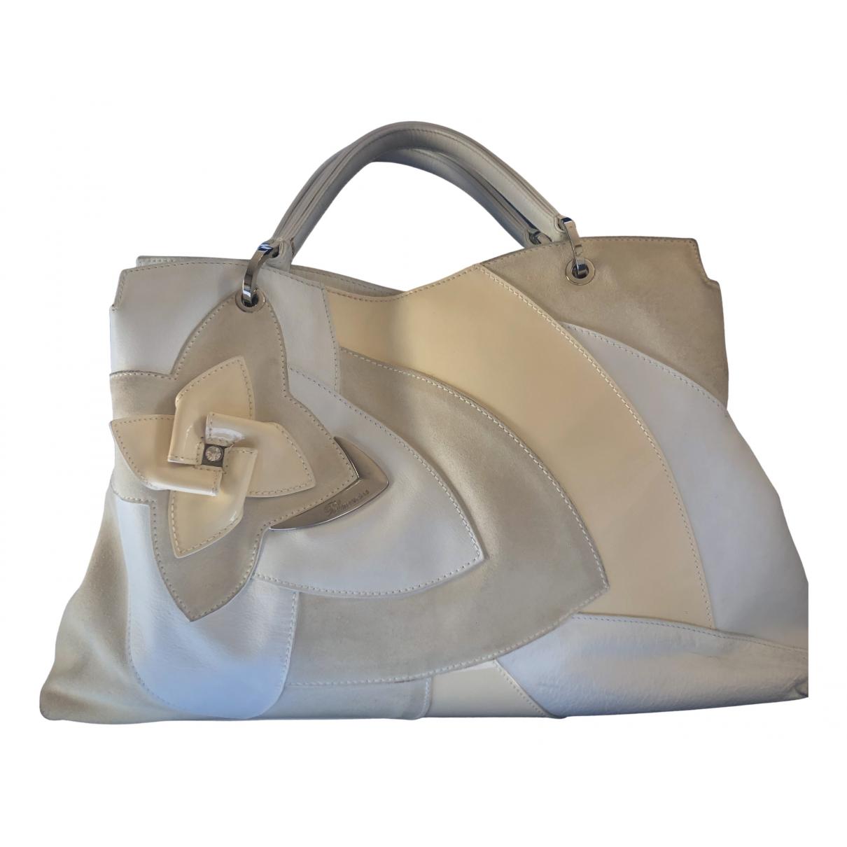 Blumarine N White Leather handbag for Women N