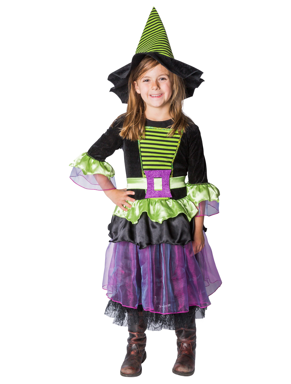 Kleid Hexe mit Hut Kinder