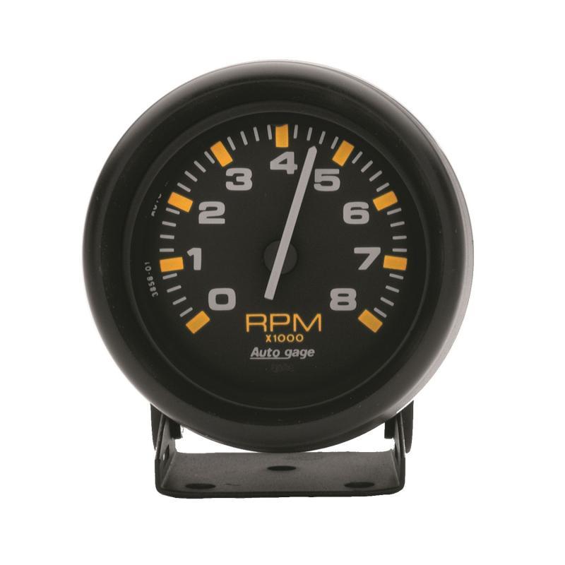 AutoMeter GAUGE; TACHOMETER; 2 3/4in.; 8K RPM; PEDESTAL; BLK DIAL BLK CASE; AUTOGAGE