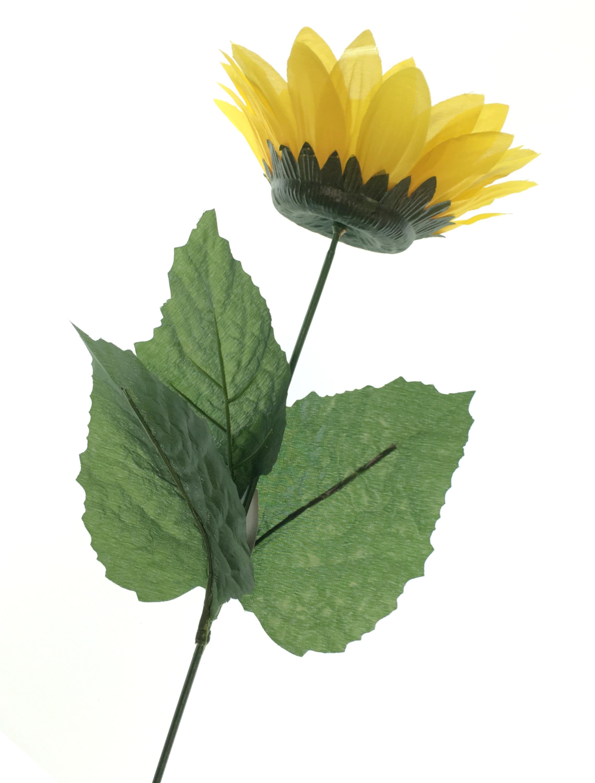 Sonnenblume mit 3 Blaettern Farbe: gelb