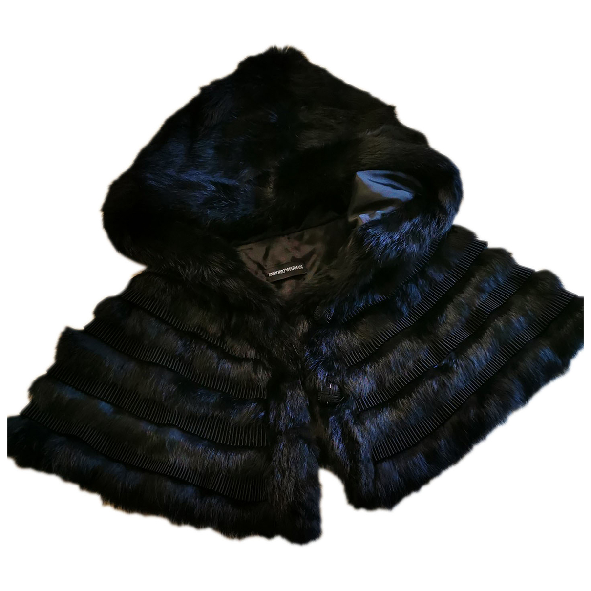 Emporio Armani - Pull   pour femme en fourrure - noir