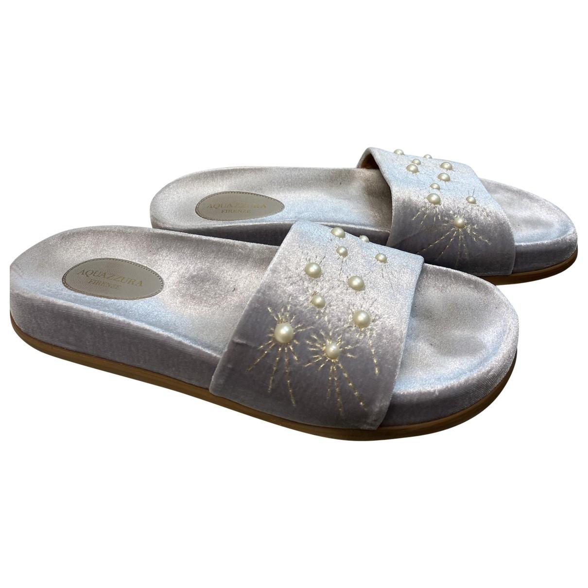 Aquazzura \N Sandalen in  Grau Samt