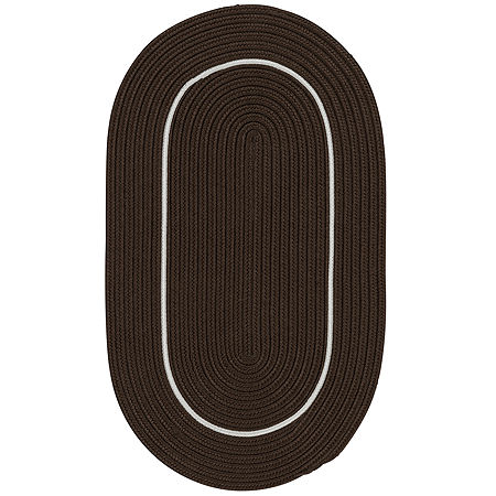 Colonial Mills Sapphire Bay Braided Oval Reversible Indoor/Outdoor Rugs, One Size , Brown