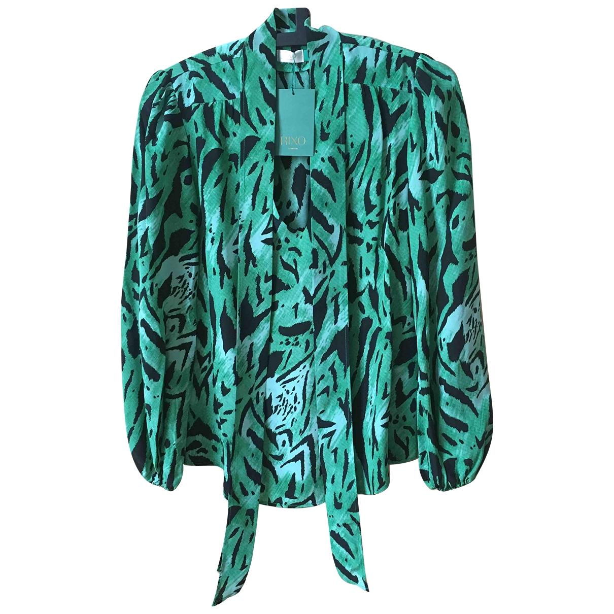 Rixo \N Green Silk  top for Women S International