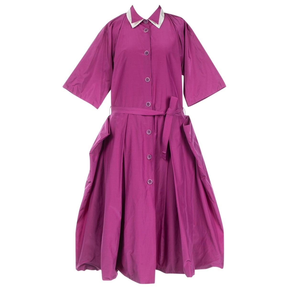 Bottega Veneta \N Kleid in  Lila Baumwolle