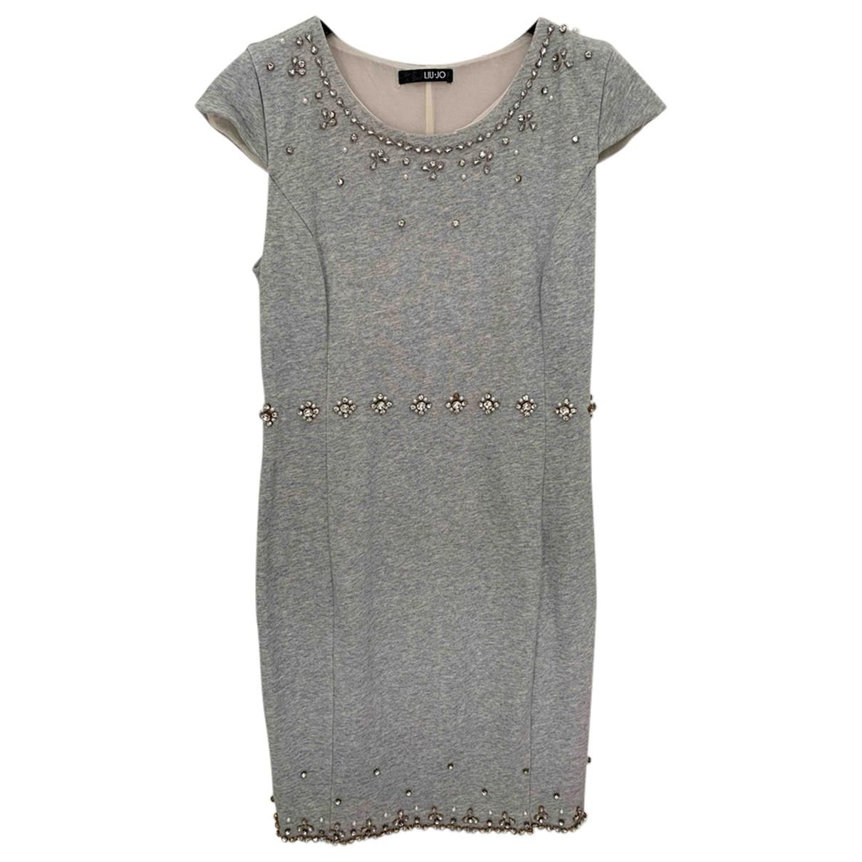 Liu.jo - Robe   pour femme en coton - gris