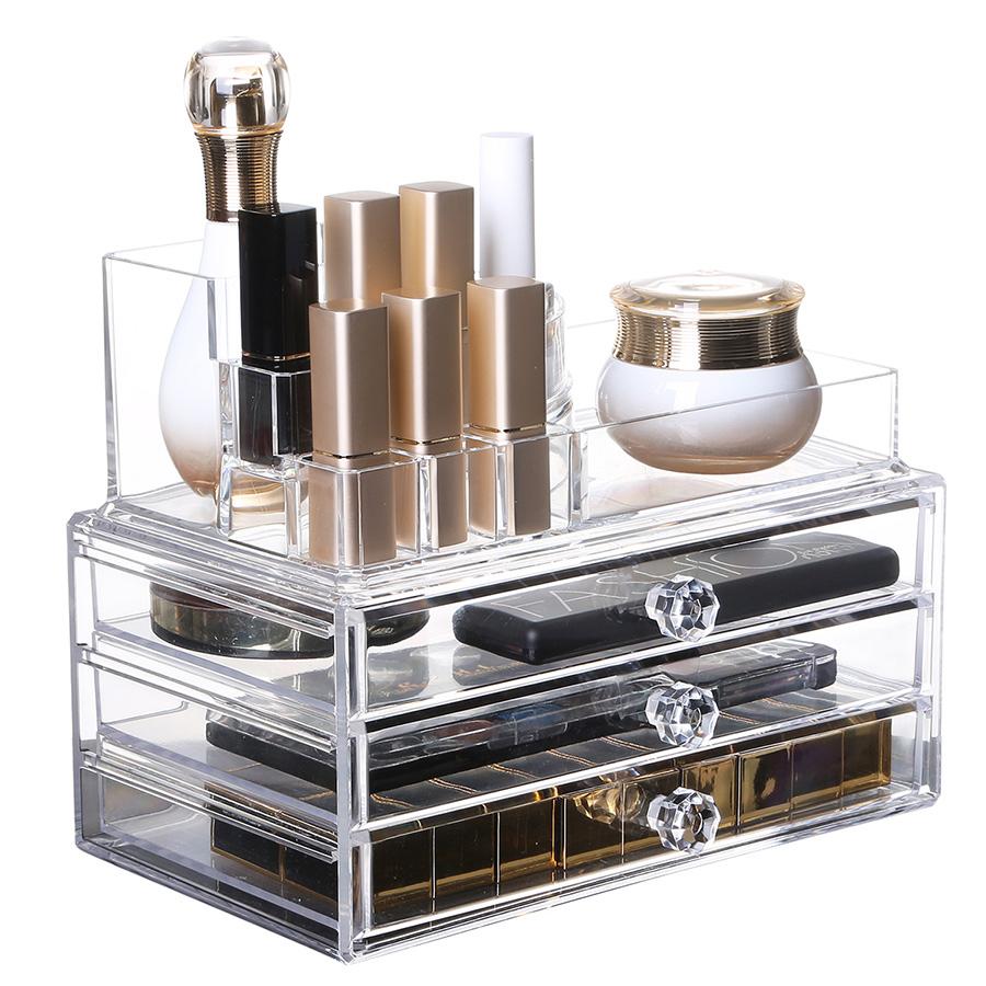 Environment Friendly Acrylic Material 23.9*15.5*18.8cm Storage Boxs
