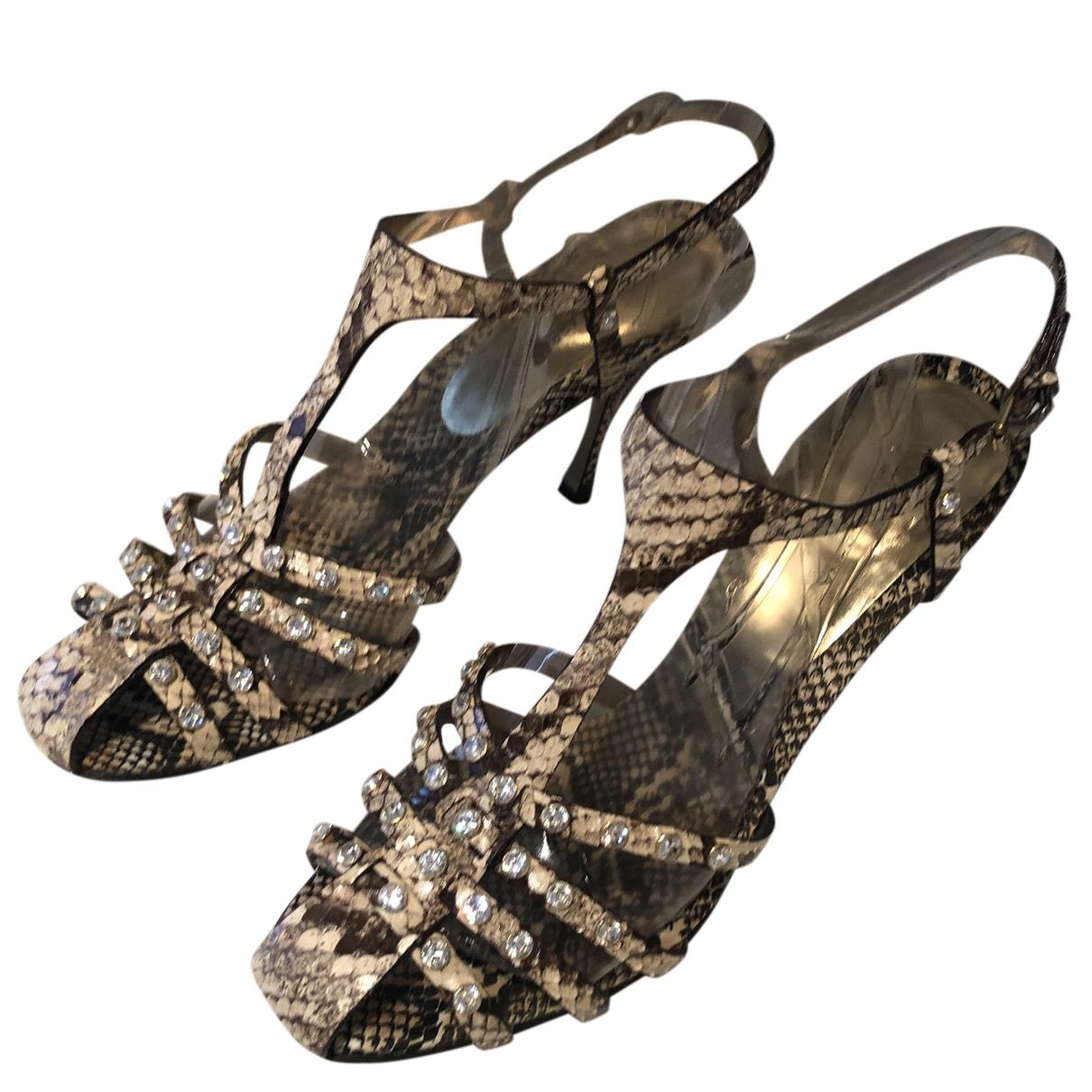 Dolce & Gabbana \N Black Python Sandals for Women 40 EU