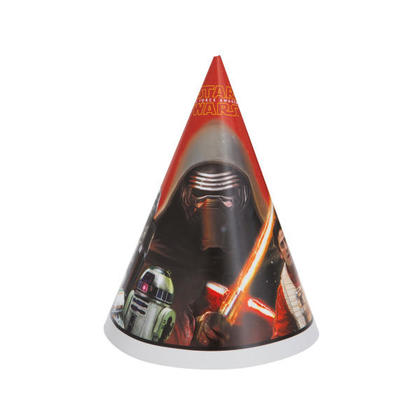 Star Wars EP. VII 8 Party Hats For Birthday Party
