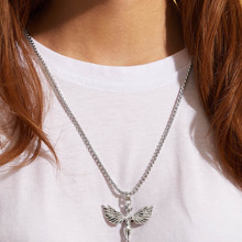 1pc Engel Charm Halskette