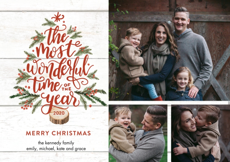 Christmas Photo Cards 5x7 Cards, Standard Cardstock 85lb, Card & Stationery -2020 Christmas Festive Tree by Tumbalina