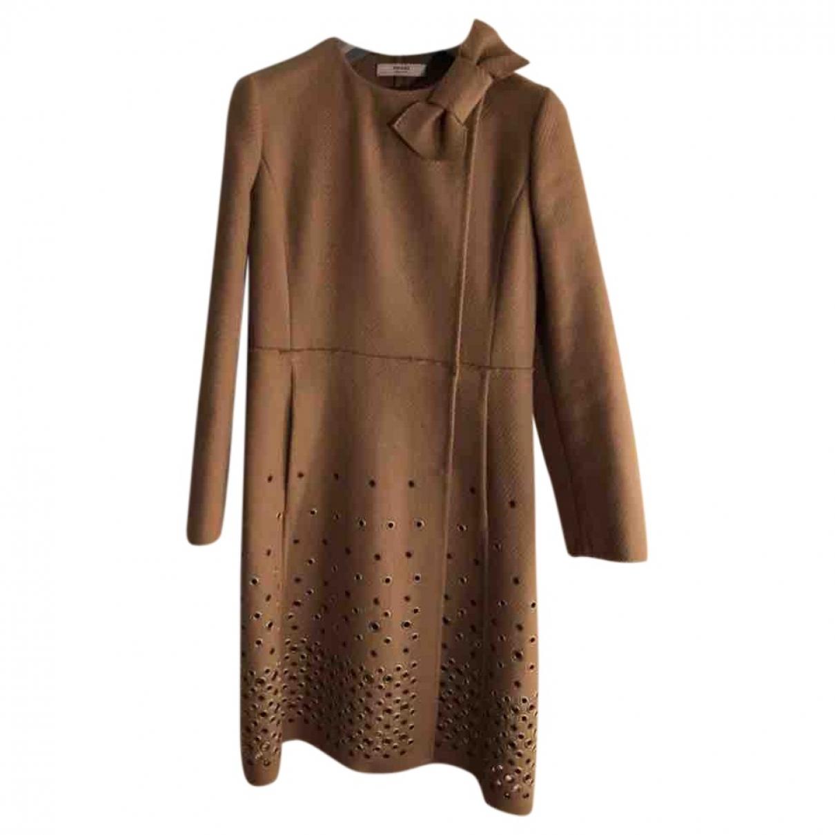Prada - Manteau   pour femme en laine - marron