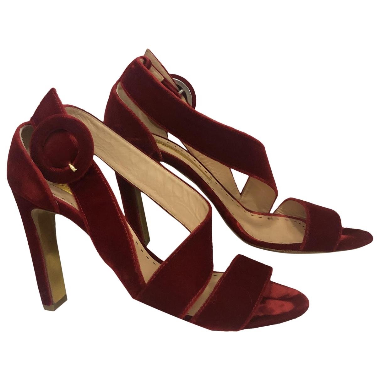 Rupert Sanderson - Sandales   pour femme en velours - rouge