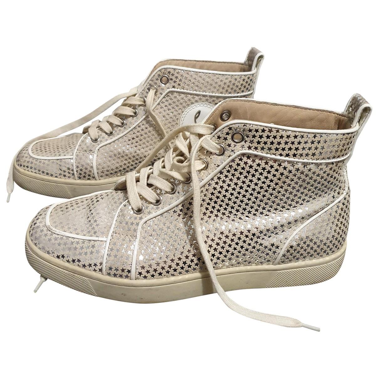 Christian Louboutin Louis Sneakers in  Beige Leder