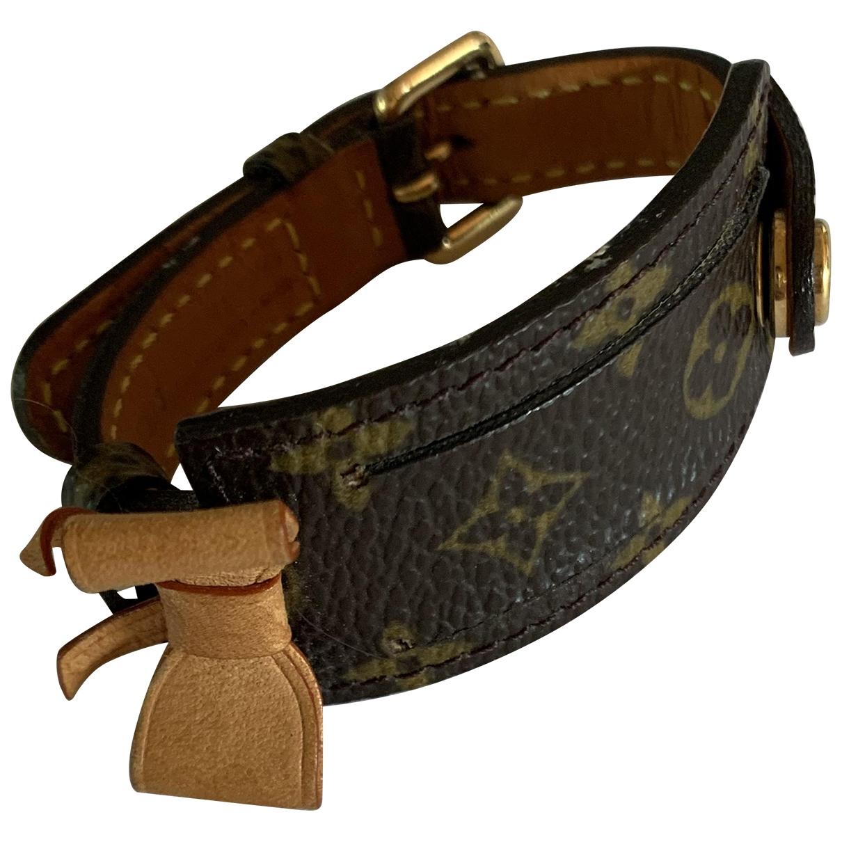 Louis Vuitton \N Brown Leather bracelet for Women \N