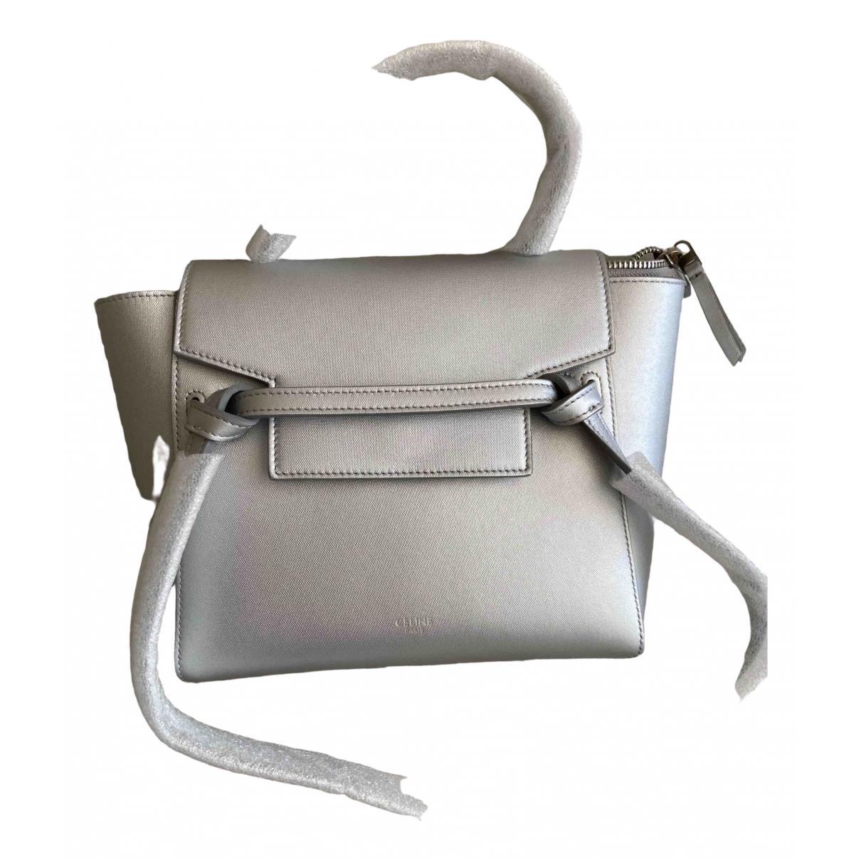 Celine Belt Silver Leather handbag for Women \N