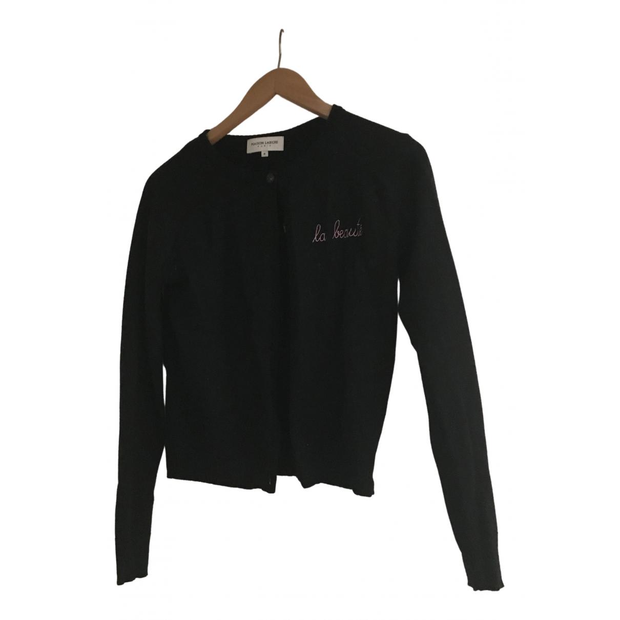 Maison Labiche \N Pullover in  Schwarz Wolle