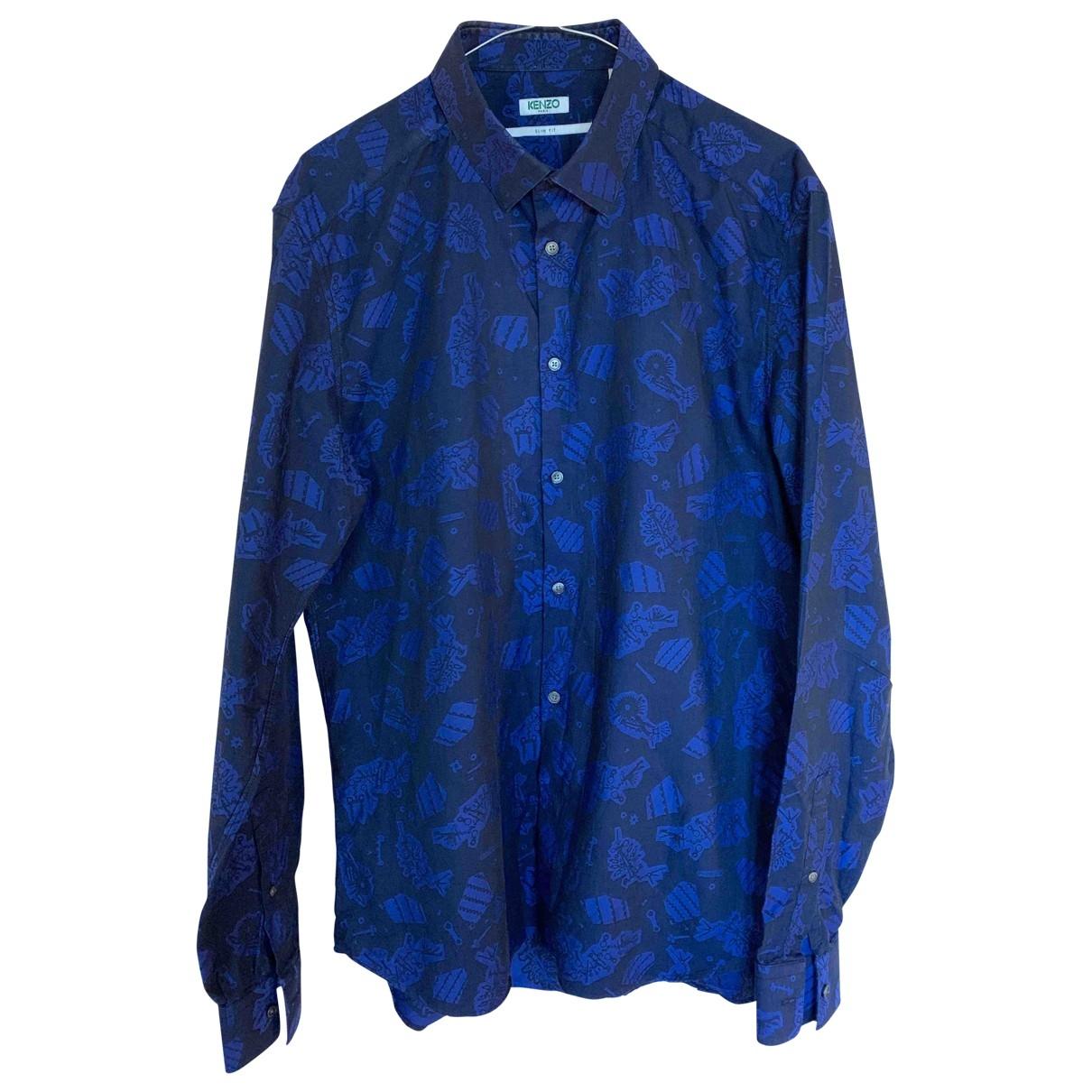 Kenzo \N Navy Cotton Shirts for Men 42 EU (tour de cou / collar)