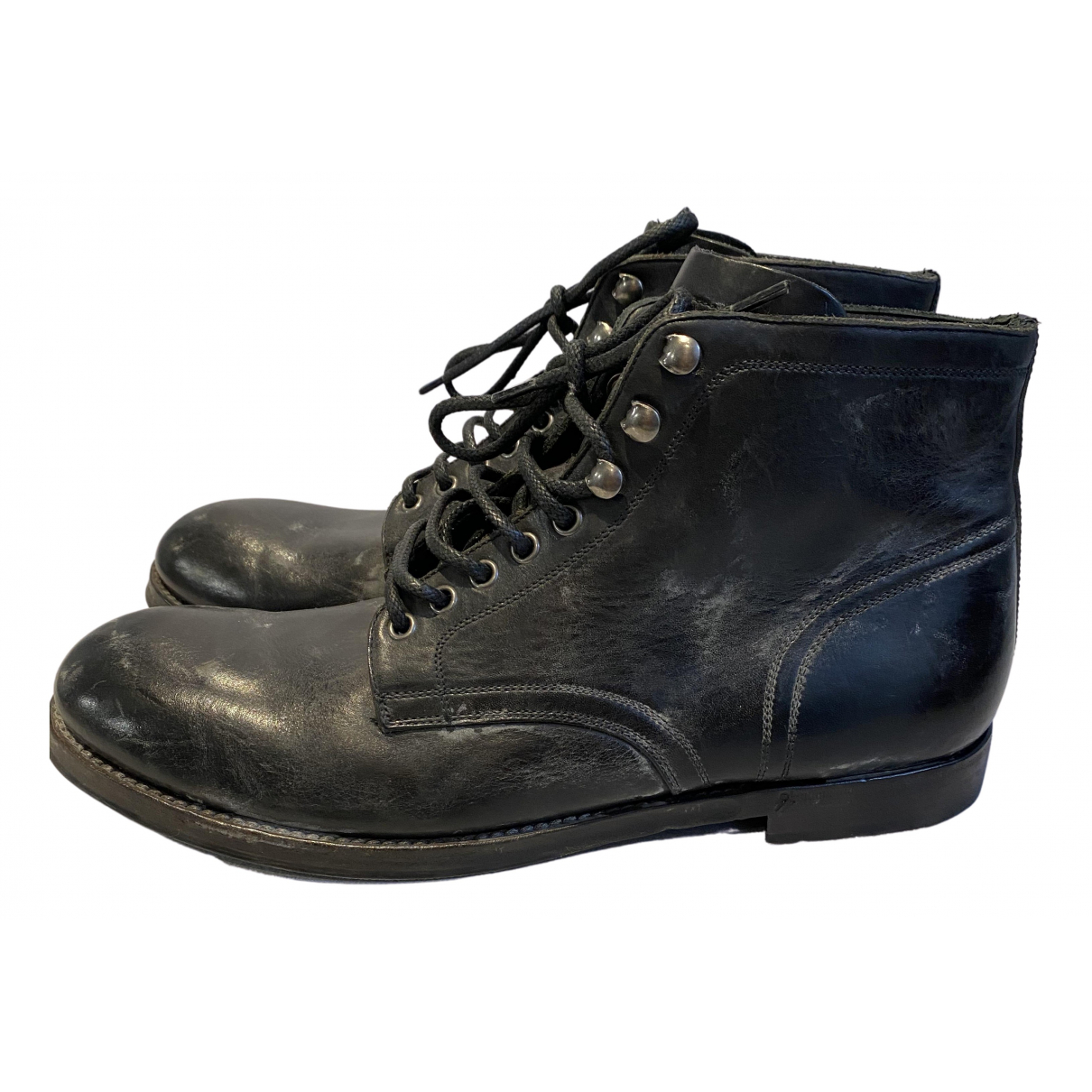 Dolce Vita N Black Leather Boots for Men 10 UK
