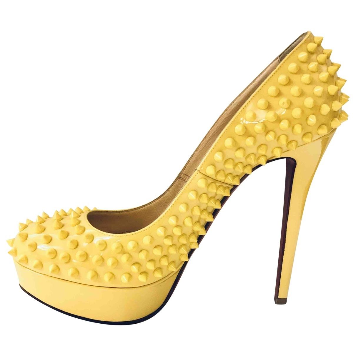 Christian Louboutin - Escarpins Bianca pour femme en cuir verni - jaune