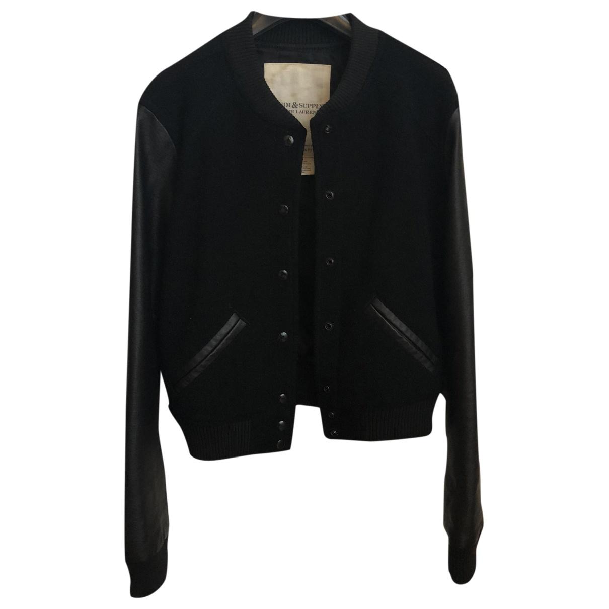 Lauren Ralph Lauren \N Black Wool Leather jacket for Women M International