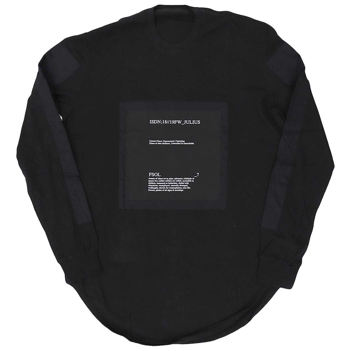 Julius 7 \N T-Shirts Schwarz