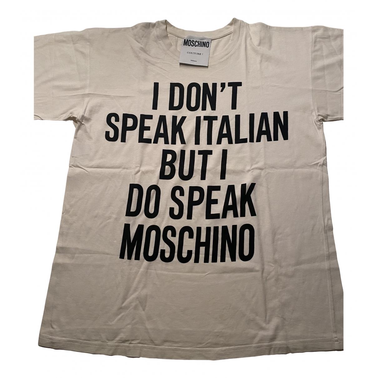 Moschino N White Cotton  top for Women M International