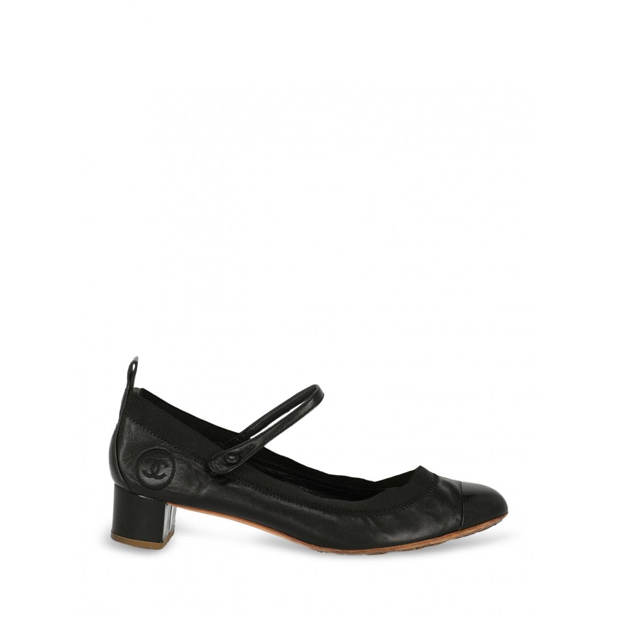Chanel \N Pumps in  Schwarz Leder