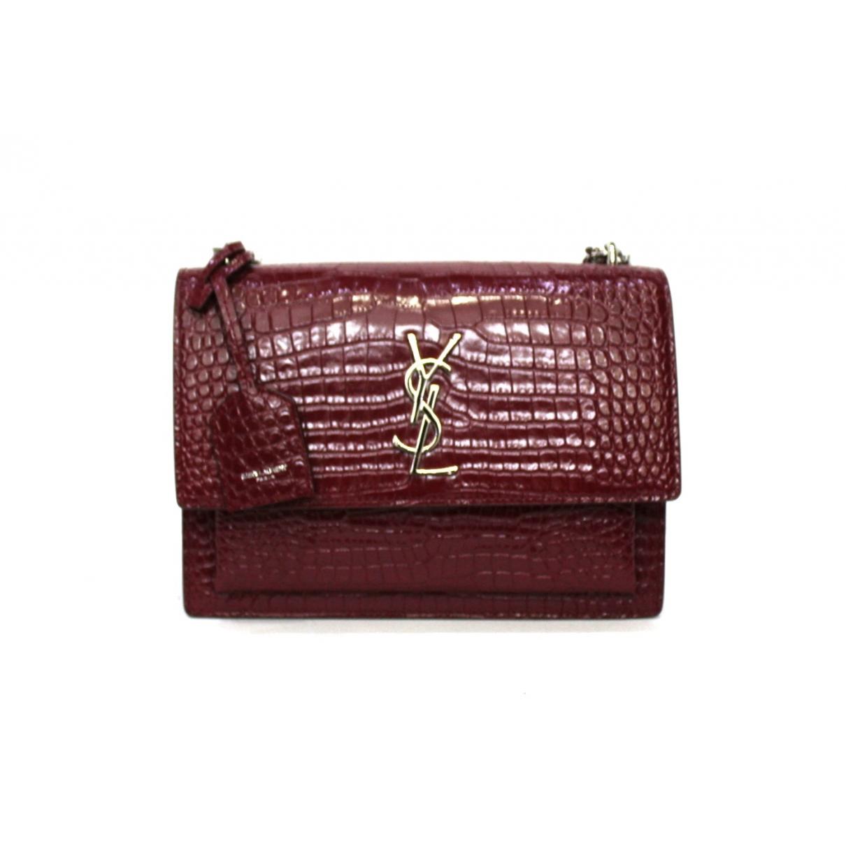 Saint Laurent Sunset Burgundy Exotic leathers handbag for Women \N