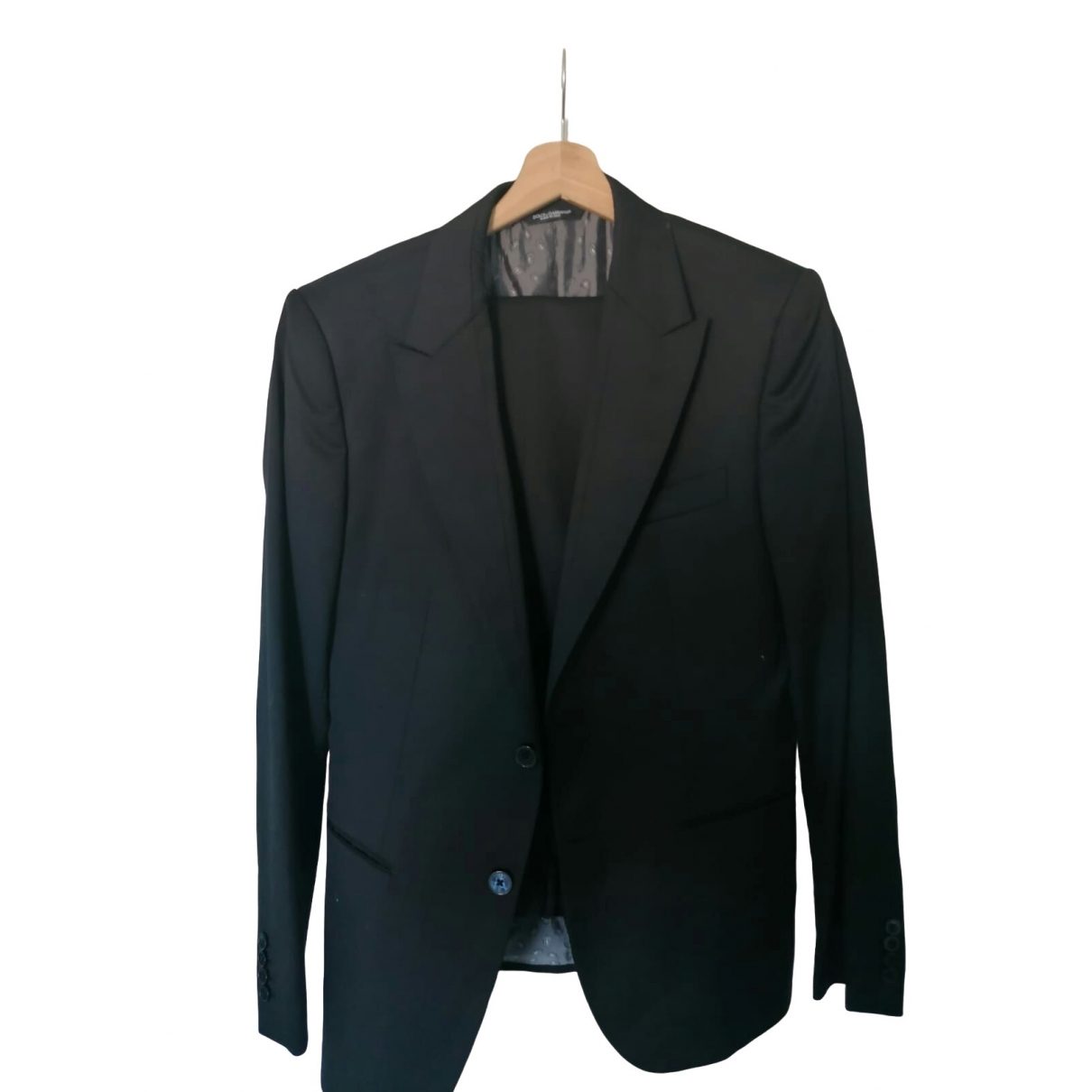 Dolce & Gabbana \N Black Wool Suits for Men 48 IT