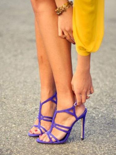Milanoo High Heel Sandals Womens Suede T-strap Open Toe Slingback Stiletto Heel Sandals