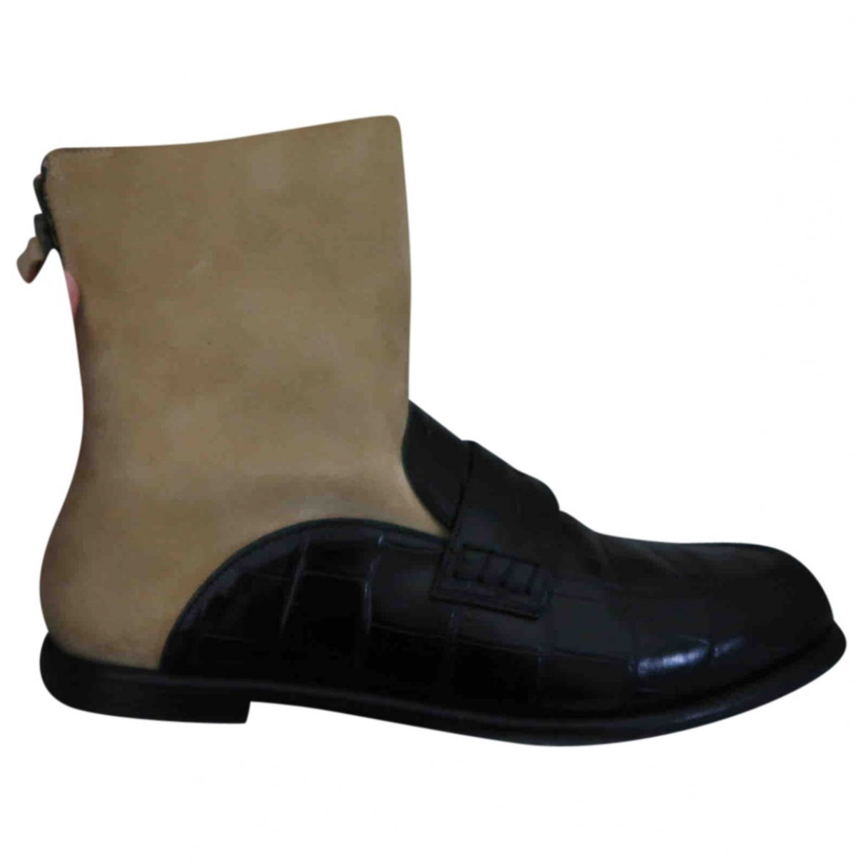 Loewe \N Brown Leather Boots for Women 40 EU