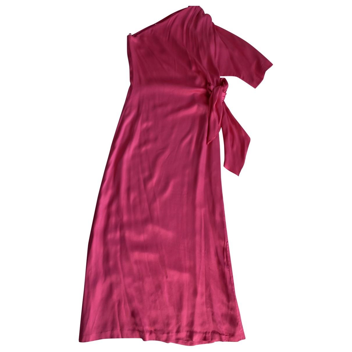 Halston - Robe   pour femme en soie - rose